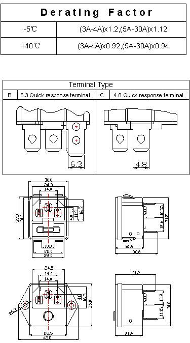 台湾kuoyuh品牌88d系列插座式过载保护器